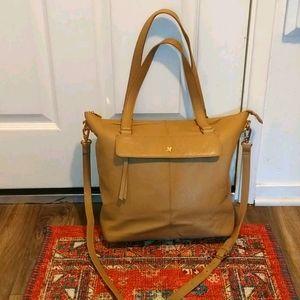 Ora Delphine Women's satchel pebbled tan leather